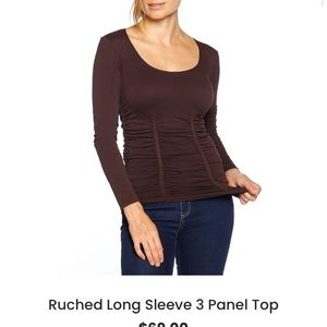 Ruched stretchy Lycra shirt